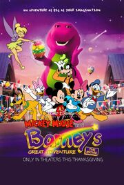 Mickey Mouse and Barney's Great Adventure The Movie (1998) Poster