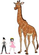 Riley and Elycia meets West African Giraffe