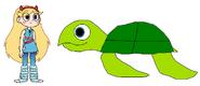 Star meets Green Sea Turtle