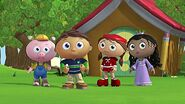 Whyatt Beanstalk, Little Red Riding Hood, Littlest Pig, and Princess Pea in Super WHY!