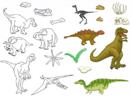 Jumpstart firstgrade paint set land of dinosaurs