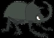 Tevin as a rhinoceros beetle