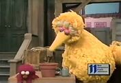 Elmo is sad because his beanstalk plant won't grow