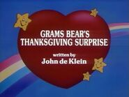 Grams Bear's Thanksgiving Surprise (Title Card)
