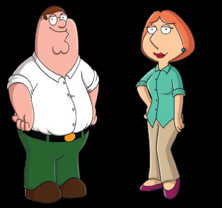 Peter Griffin And Lois Griffin As Mowglis Parents Png