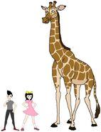 Riley and Elycia meets Kordofan Giraffe