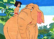 Mowgli winifred the elephant the jungle book by jajuruns90rebels-dbwh45s