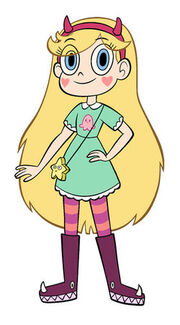 Star butterfly naked