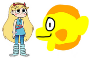 Star meets Yellow Tang