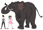 Riley and Elycia meets Indian Elephant