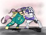 Saddle rager vs iron rarity by samoht lion-d8q3mzd