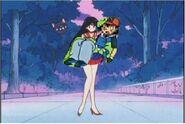 Sailor Mars Holding Ash