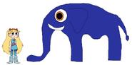 Star meets East African Bush Elephant