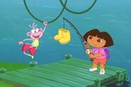 Dora Watches Boots Swing
