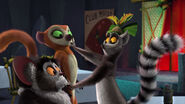 King Julien hushes