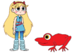 Star meets Tomato Frog