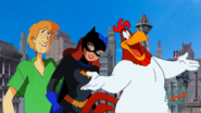 Paramount Pictures Finding Denno SHAGGY, BATGIRL AND FOGHORN LEGHORN Animation Production Cel Nickelodeon Seal