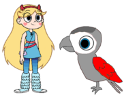 Star meets African Grey Parrot