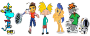 Thomas as Rayman, Spike as Barry B. Benson, Arnold and Flash Sentry as Jak and Daxter, and Tom and Bobert as Ratchet and Clank.
