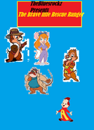 The brave little rescue rangers Poster by self making