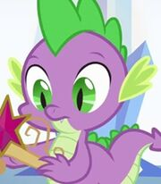 Spike in My Little Pony- Equestria Girls