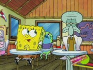 Do you like it Squidward. Shut it