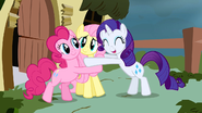 Pinkie Pie Fluttershy and Rarity in My Little Pony Friendship is Magic