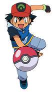 Ash in his Hoenn clothes
