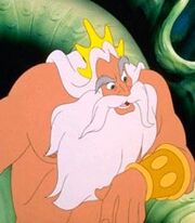 King Triton in The Little Mermaid
