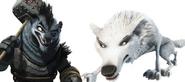 Wolf Boss and White Wolf
