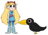 Star meets American Crow