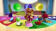 The Muppet Babies laugh after Kermit tells a joke to Fozzie