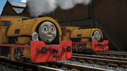 Bill and Ben from Thomas and friends as Donald and Doulgas