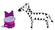 Chowder meets Plains Zebra