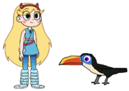 Star meets White-Throated Toucan