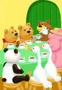Jumpstart firstgrade the teddy bear tea panda bears mouse hamsters geese pigs