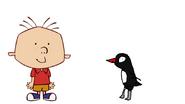 Stanley Griff Meets Adelie Penguin
