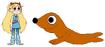Star meets Mediterranean Monk Seal