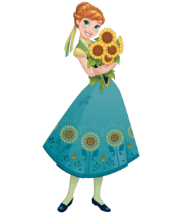 Anna Frozen Fever 2D render