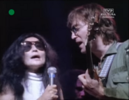 John and Yoko Singing