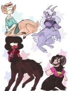 Steven Universe and the Gems as centaurs
