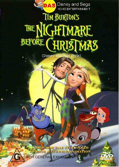 the nightmare before christmas disney and sega style australia dvd coverjpg - Nightmare Before Christmas Disney