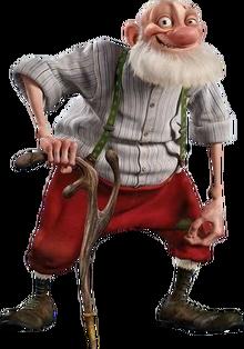 Grandsanta the Old Santa Character from Arthur Christmas