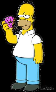 Homer Simpson eats a donut
