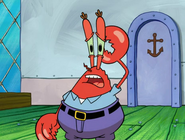 Krabs sorry about run away from town