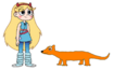 Star meets Long-tailed Weasel
