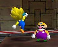 Super Mario 64 Land thunder mario vs wario