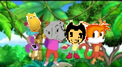 (3) Perdita and Her Friends Swinging with Vines