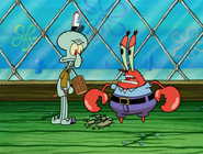 Krabs getting angry at squidward