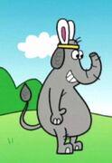 Sad Cartoon Elephant